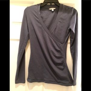 CAbi Long Sleeve wrap blouse, Small